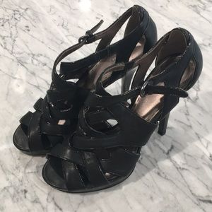 Coach strappy heel shoes
